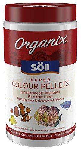 Söll 18744 Organix Super Colour Pellets - Aquariumfutter - Zierfischfutter - Pelletfutter, 1er Pack (1 x 1 l)