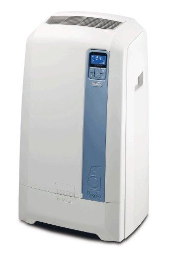 De'Longhi PAC WE112 Eco Mobiles Klimagerät (Wasser-Luft-Technologie, Max. Kühlleistung 3,0 kW/11.500 BTU/h, Separate Entfeuchtungsfunktion, Geeignet für Räume bis zu 100 m³) [Energieklasse EEK A+]