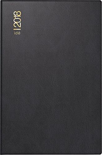 rido/idé 701520290 Taschenkalender partner/Industrie I, 2 Seiten = 1 Woche, 72 x 112 mm, Kunststoff-Einband schwarz, Kalendarium 2018