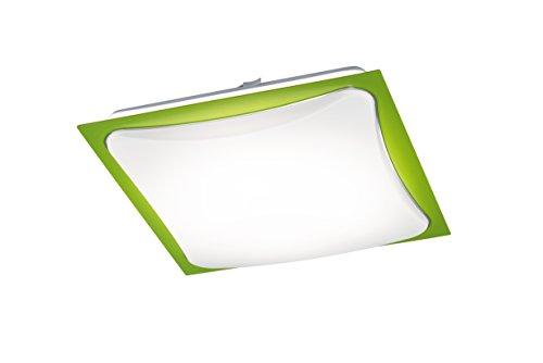 Trio Leuchten LED-Deckenleuchte CORNET in acryl weiß, Rahmen grün 678811815