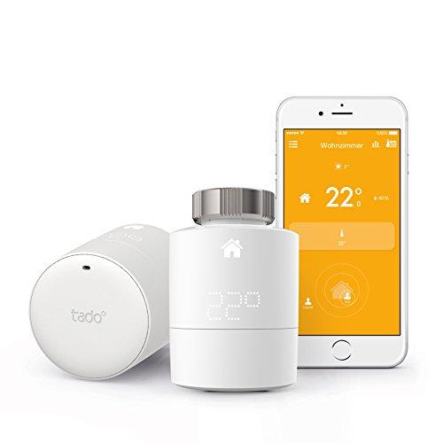 tado° Smartes Heizkörper-Thermostat Starter Kit für Wohnungen mit Heizkörper-Thermostaten – intelligente Heizungssteuerung per Smartphone