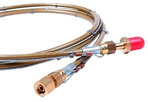 AES-w.1067-hp-2000Wasserstoff/Propan Gas Schlauch mit 2m anti-whip Kabel X 5/8LH X 3/8RH, 300bar