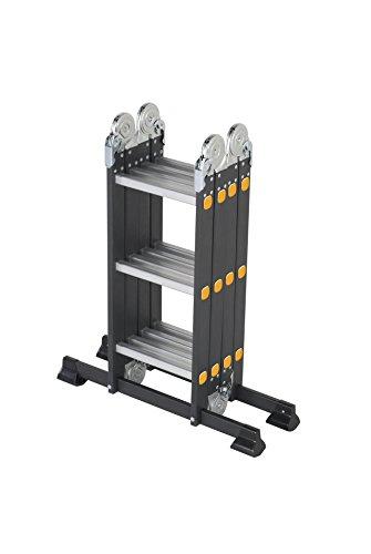 Ladders-Online Klappleiter mit 12 Tritten 1 m