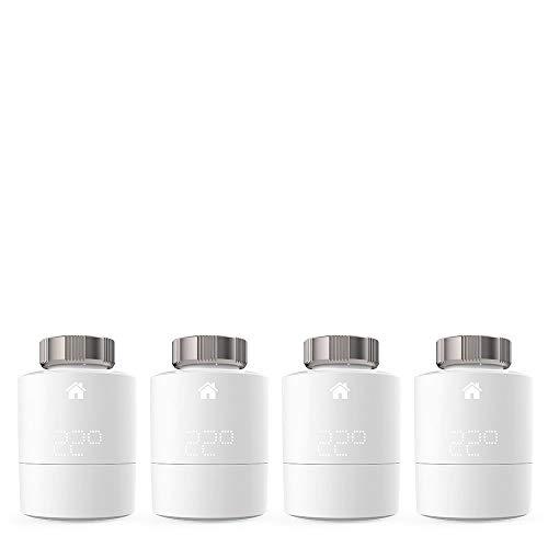 Tado Smartes Heizkörper-Thermostat (Quattro Pack, Zusatzprodukte für Einzelraumsteuerung, intelligente Heizungssteuerung)