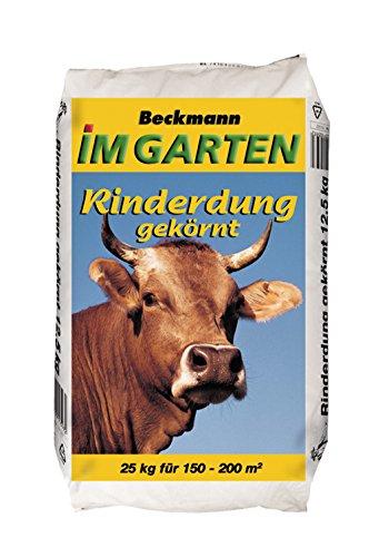 Beckmann Rinderdung gekörnt 2,5 + 2 + 2,5 • 25 kg für 150-200 m² • organischer Dünger