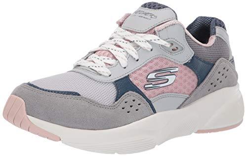 Skechers Damen Meridian-charted Sneaker, Grau (Grey Pink Gypk), 39 EU