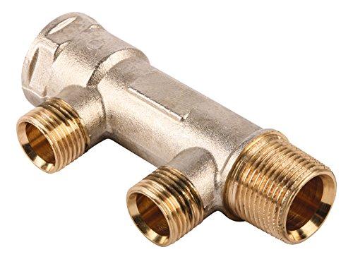 Sanitop-Wingenroth 26052 7 Wiroflex, Kompaktverteiler für Sanitär-und Heizungsanlagen, Stammrohr 3/4 Zoll, 2 Fach Verteiler